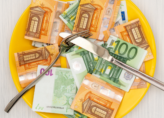 Beitragsbild Mehr Geld, weniger Hüftgold